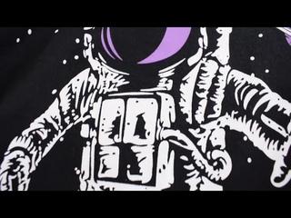 От 2 до 9 лет одежда для маленьких мальчиков осенне весенняя футболка с принтом космонавта длинными