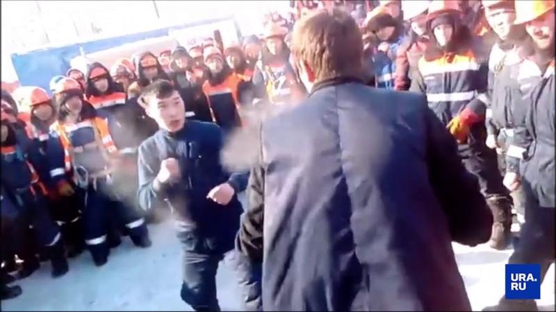 Вахтовики в Сабетте устроили кулачный бой из за очереди в столовую