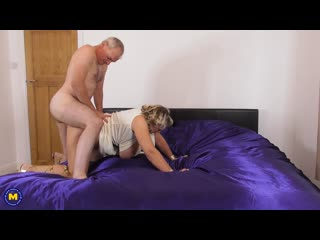 Camilla C. (EU) (47) - Camilla dresses up in a toga and waiting for her pussy to be filled with a creampie