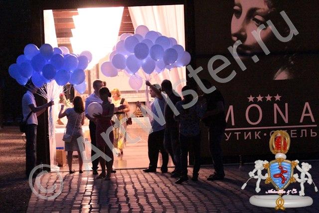 светящиеся воздушные шары на свадьбе
