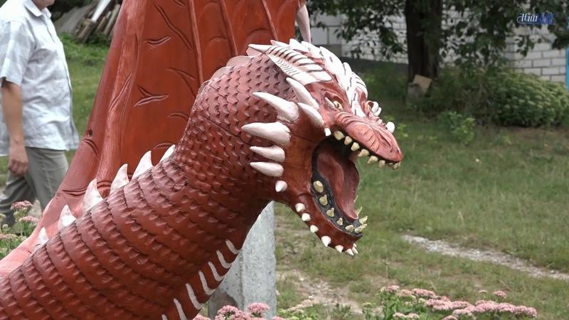 500-килограммовый дракон появился в Волковыске