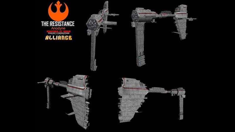 Star Wars Empire at War FOC Alliance Anodyne Frigate