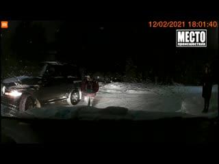 Видеорегистратор. Калина сбила женщину в Кирово-Чепецке. Место происшествия