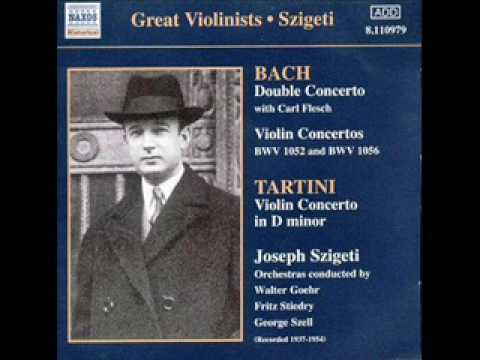 Bach Violin concerto in D minor BWV 1052 Restored Szigeti 1st mov