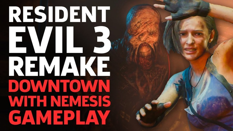 Resident Evil 3 Remake Terrifying Nemesis Chase Gameplay