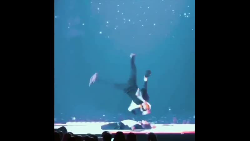 Jimin jumping over hobi in different angles but id really love a look at what hobi sees tho