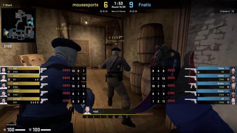 CSGO POV Demo Mousesports ropz (2713) vs Fnatic (de_inferno)