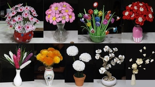 24 Flower from different materials | How to make Flower | Home Decor