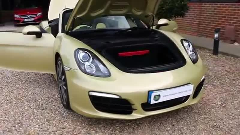 Porsche Boxster S 3 4 Manual in Lime Gold Metallic with Two Tone Leather