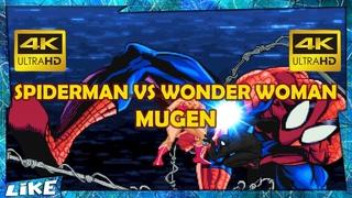 Spiderman Vs Wonder Woman [Hard Fight] GAME CLIPS 4K