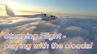 Stunning View: Playing with and above the clouds with Silent 2 Electro selflaunchable Glider Flight