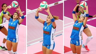 Alessia Orro - Amazing Volleyball setter from Italy   Best Volleyball Actions by Setter 2019