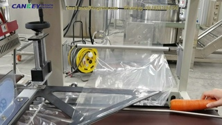 Vegetable Shrink Wrapping Machine Video +8618537181190