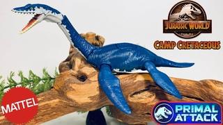 Mattel Camp Cretaceous Savage Strike Plesiosaurus Review!! Jurassic World Primal Attack