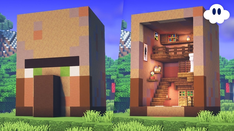 Minecraft How to Build a Villager Head House