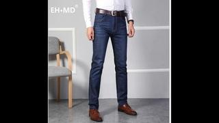 Eh md®тонкие джинсы мужские осень зима 2021 брендовые высокого класса ретро шлифованные белые