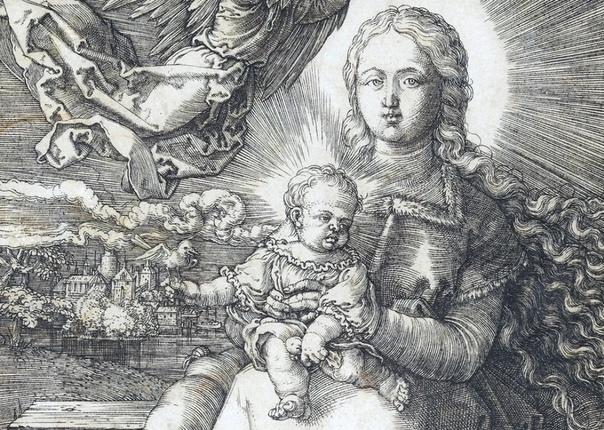 «Дева Мария, младенец Иисус и ангел», Альбрехт Дюрер