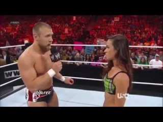 Eve Torres  The Miz Vs  AJ Lee  Daniel Bryan   WWE RAW 71612