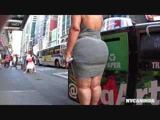 Nyc 283 thick emo latina in white black striped dress | pawg _