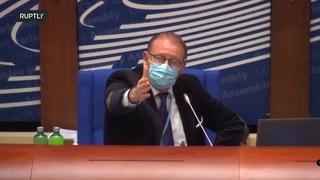 Нардепа Алексея Гончаренко лишили слова на заседании ПАСЕ  20. 04. 2021.