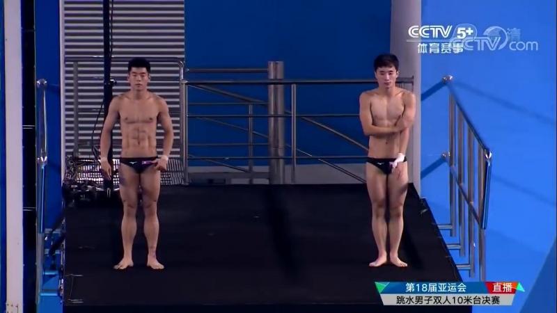 13 ые Китайские Национальные Игры 2017 год Прыжки с 10 метрового трамплина мужские пары