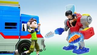 Супергерои игры битвы - БЕН 10 и часы Омнитрикс против Злодеев! - Сборник видео для мальчиков