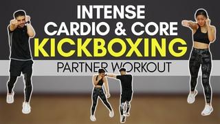 Интенсивная кардио тренировка и кор кикбоксинг с партнером. Intense Cardio & Core KICKBOXING Partner Workout | Joanna Soh
