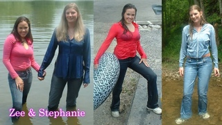 Wetlook Zee and Stephanie at the Lake in jeans