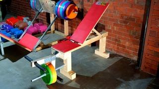 Homemade leg extension and leg curl machine | DIY