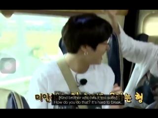 Seokjin, tae and hoseok crack the eggs on jungkook's head @bts_twt