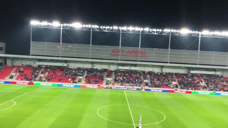 Гімн України перед матчем проти Словаччини