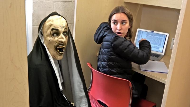 THE NUN Scare Prank at School!