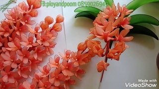 Как сделать орхидею из капроновых колготок