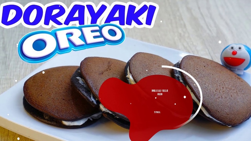 Dorayaki oreo paling enak dengan 4 bahan