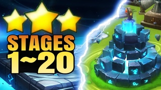Battle training - Stages 1~20 - 3★   Summoners War