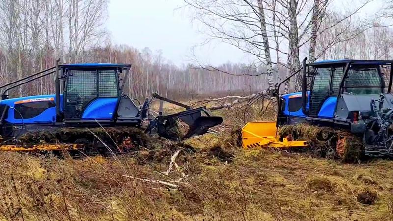АГРОМАШ 90ТГ с лесной защитой
