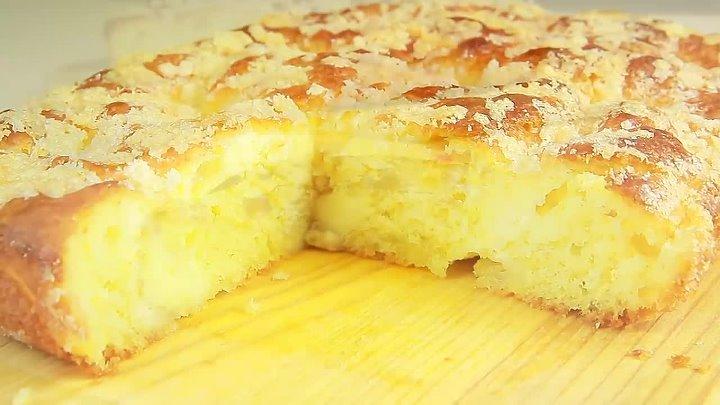 Сказать что это Вкусно значит ничего не сказать Сахарный Пирог со Сливками вместо Крема