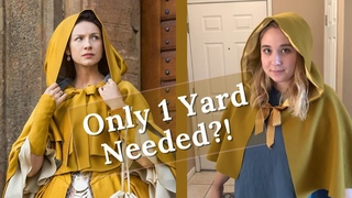 Stashbusting - Sewing an Outlander Inspired 18th Century Short Cloak