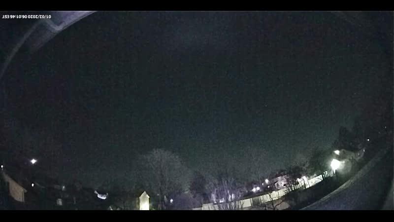 20 01 2020 Нью Джерси в Хейнспорт снято на камеру ночного видения