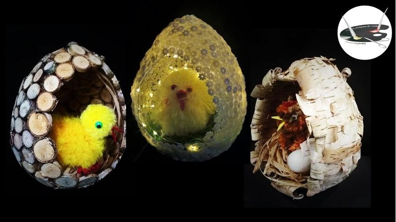 3 pomysły z czego zrobić jaja na balonie [3 EGGS MADE OF BALLOON] - Pomysły plastyczne dla każdego