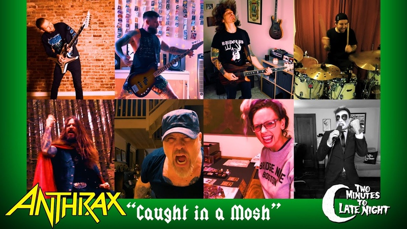 """Revocation Periphery Carcass Hjelvik cover Anthrax's Caught In A Mosh"""""""