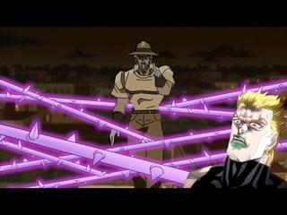 Джозеф побеждает Дио хамоном (ДжоДжо анимация)