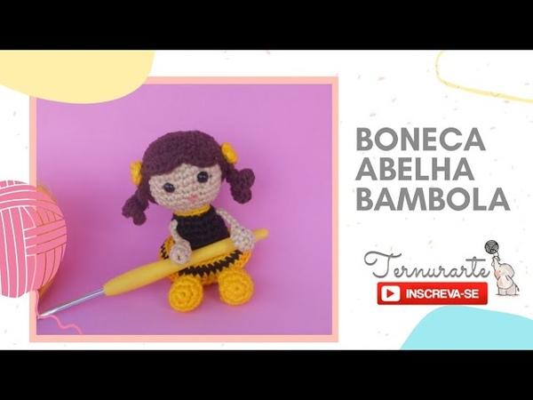 Mini boneca abelha amigurumi Bambola