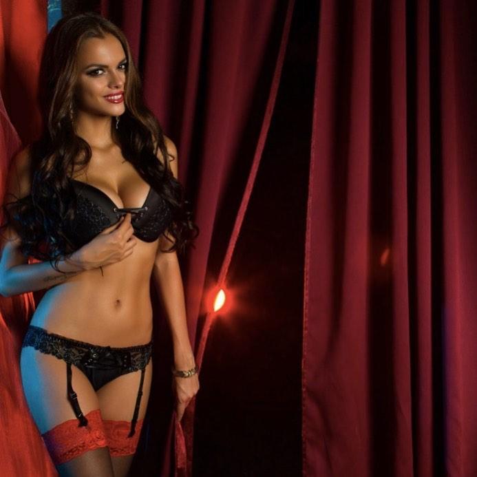 Pretty latina model denisse gomez does a slow striptease on luxurious balcony