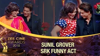 Sunil Grover Flirts With The King of Romance | Comedy Act | Zee Cine Awards 2018