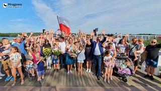 Жители Мронгово приветствовали олимпийскую чемпионку Анну Пулавскую!