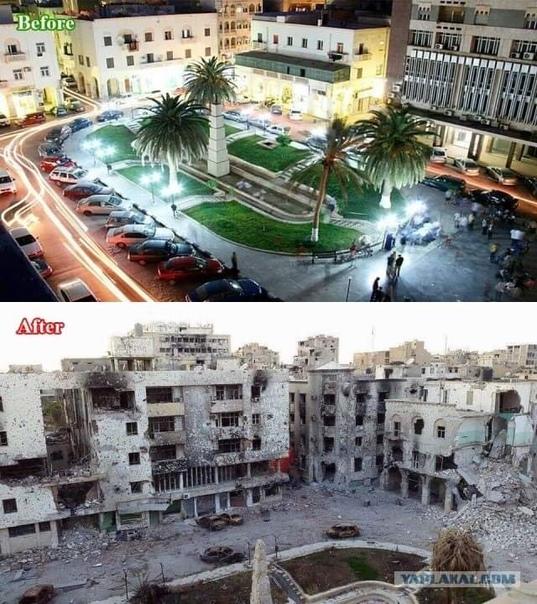 ливия при каддафи и после фото офисного