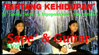 Bintang Kehidupan - Nike Ardilla (cover Ayu Gusfanz) with Sape modif & Guitar