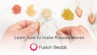 Learn how to make Russian leaves | Fusion Beads