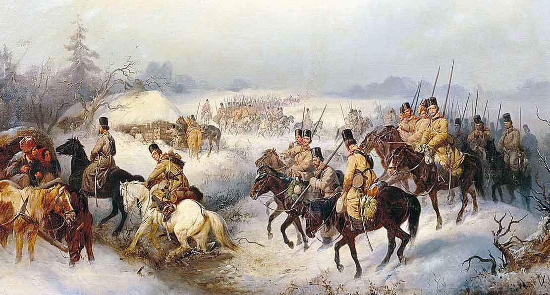 Донские казаки в походе